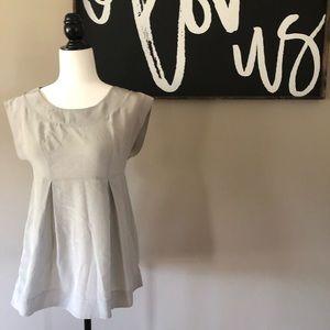 Aritzia TALULA BABATON silk grey sleeveless blouse